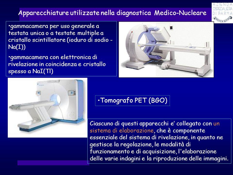 Apparecchiature utilizzate nella diagnostica Medico-Nucleare Ciascuno di questi apparecchi e collegato con un sistema di elaborazione, che è component