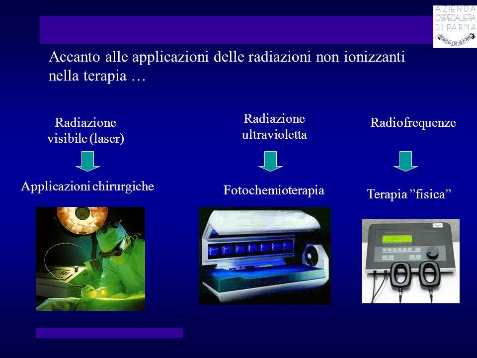 Risonanza magnetica Imaging basato sullassorbimento e lemissione di energia nel range delle radiofrequenze Ecografia Immagini generate dagli echi prodotti nellinterazione coi tessuti di un fascio di ultrasuoni … e nella diagnosi … (oltre agli ultrasuoni)