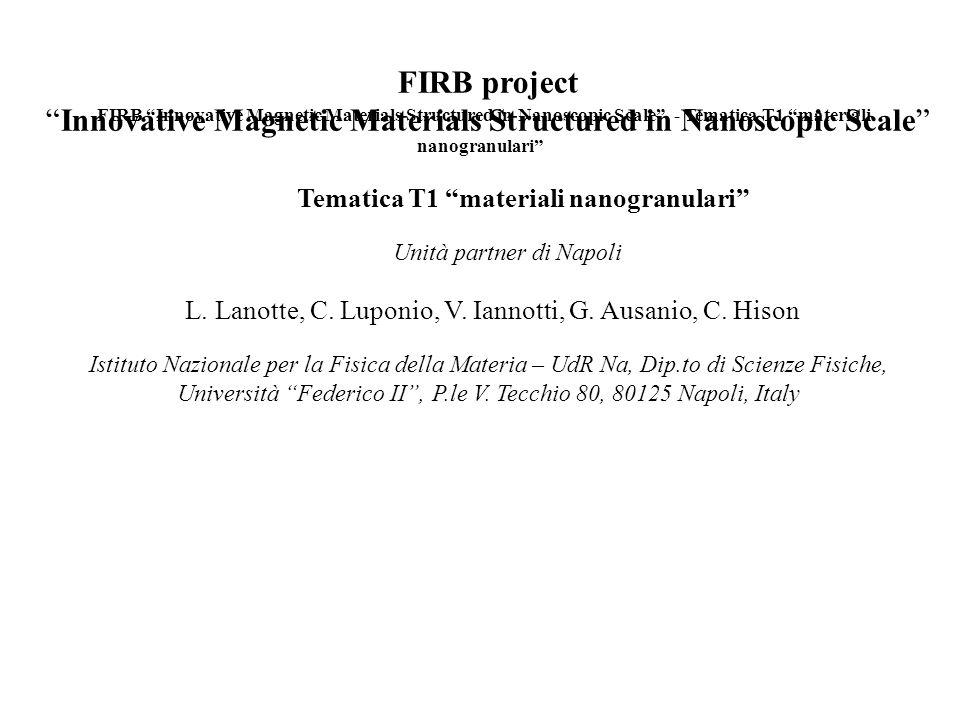 Resoconto scientifico a settembre 2003 - Unità partner di Napoli Attività svolte: 1.