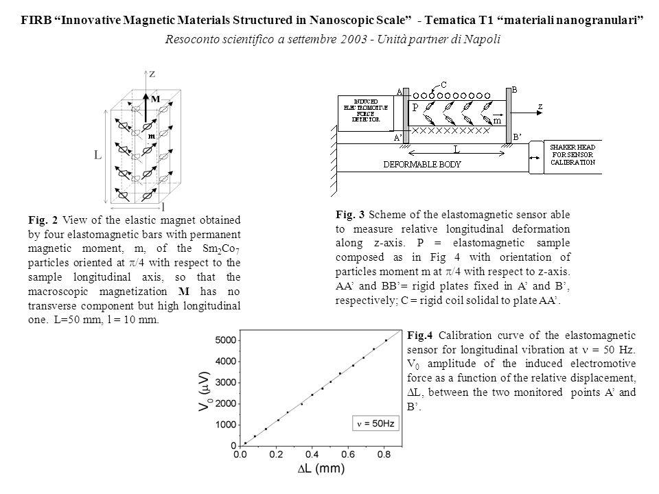 FIRB Innovative Magnetic Materials Structured in Nanoscopic Scale - Tematica T1 materiali nanogranulari Resoconto scientifico a settembre 2003.- Unità partner di Napoli Resoconto finanziario a settembre 2003.
