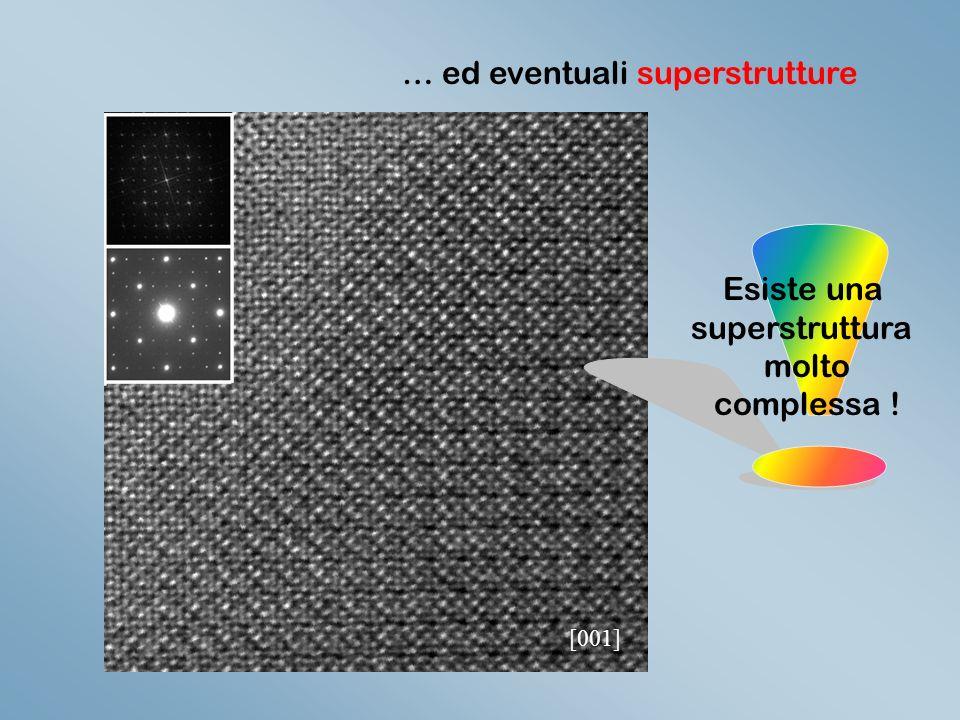[001] … ed eventuali superstrutture Esiste una superstruttura molto complessa !