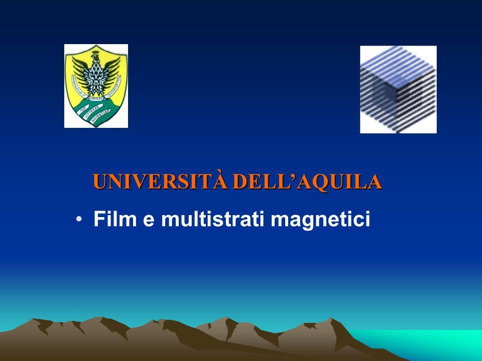 Film e multistrati magnetici UNIVERSITÀ DELLAQUILA