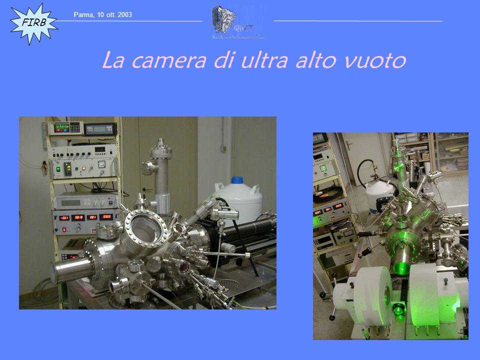La camera di ultra alto vuoto FIRB Parma, 10 ott. 2003