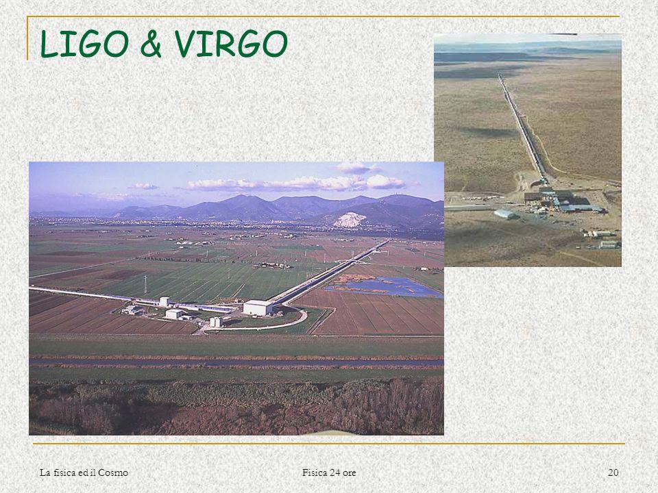 La fisica ed il Cosmo Fisica 24 ore 20 LIGO & VIRGO