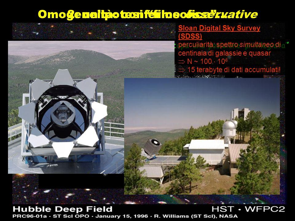 http://zebu.uoregon.edu/~js/ast123/images/nbod2.mpg CLUSTERING GERARCHICO tempo oggetti di piccola massa: galassie oggetti di grande massa : ammassi e superammassi di galassie massa ~ 10 10 anni ~ 90% età delluniverso QSO