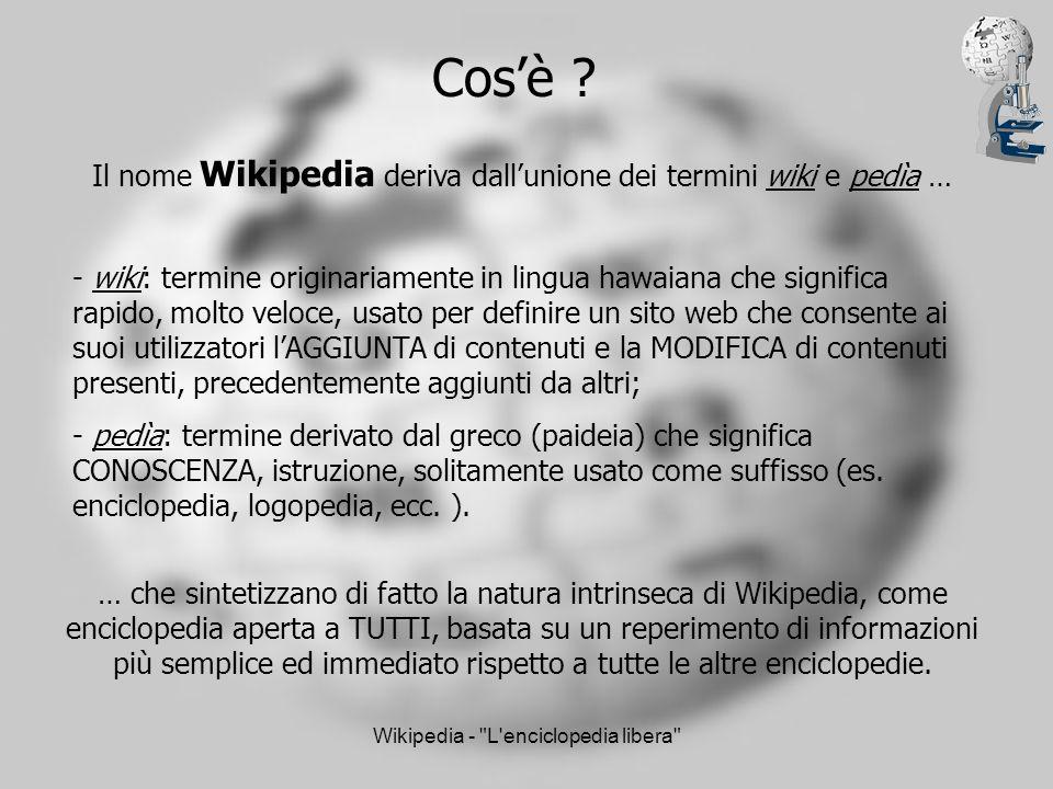 Wikipedia - L enciclopedia libera Navigazione: collegamenti utili durante la navigazione nel sito.