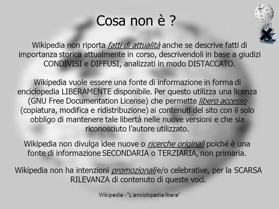 Wikipedia - L enciclopedia libera Come funziona .
