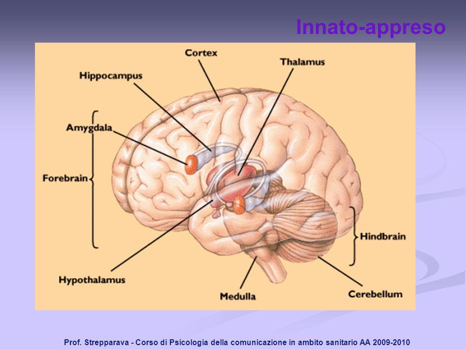 Prof. Strepparava - Corso di Psicologia della comunicazione in ambito sanitario AA 2009-2010 Innato-appreso