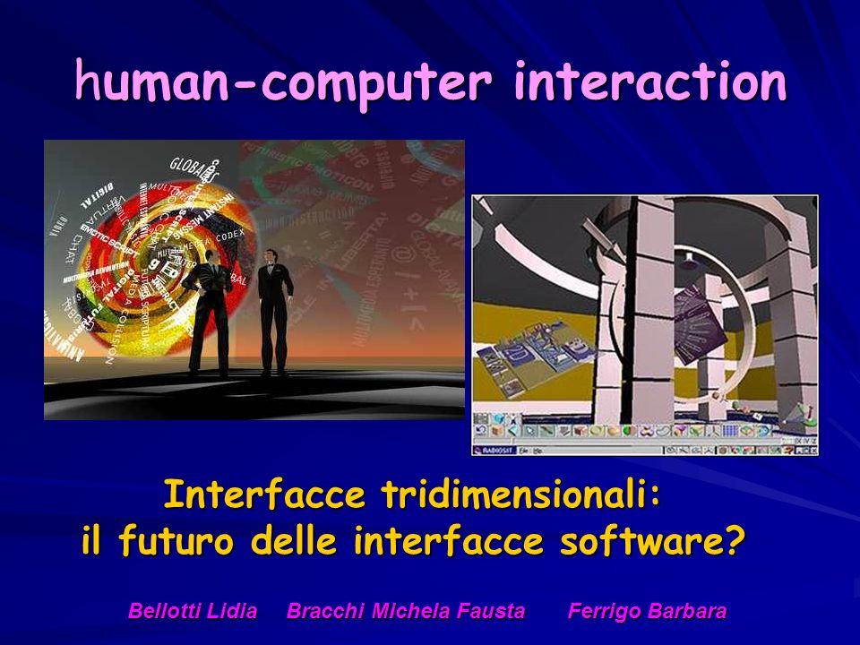 human-computer interaction Interfacce tridimensionali: il futuro delle interfacce software?