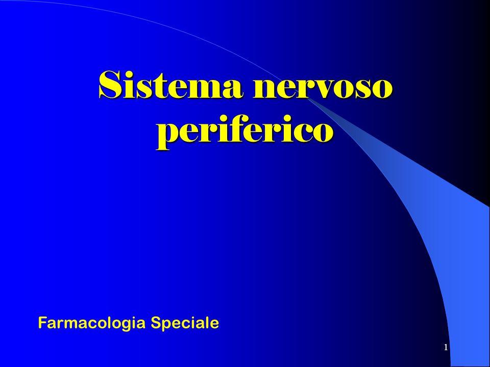 1 Sistema nervoso periferico Farmacologia Speciale
