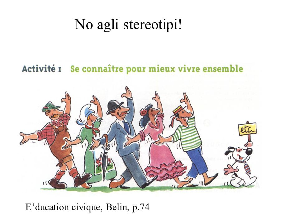 No agli stereotipi! Education civique, Belin, p.74
