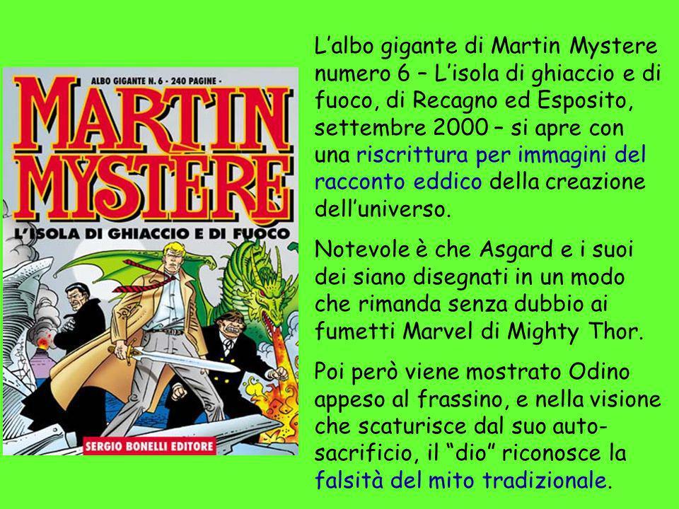 Lalbo gigante di Martin Mystere numero 6 – Lisola di ghiaccio e di fuoco, di Recagno ed Esposito, settembre 2000 – si apre con una riscrittura per imm