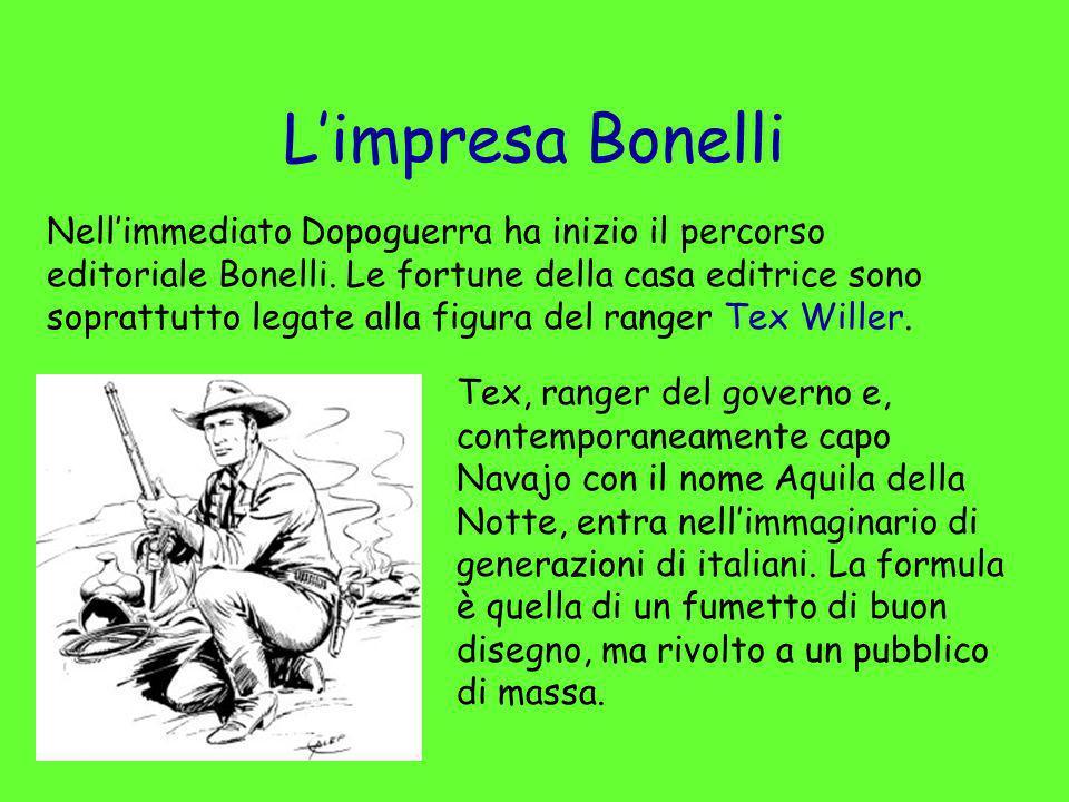 Limpresa Bonelli Nellimmediato Dopoguerra ha inizio il percorso editoriale Bonelli. Le fortune della casa editrice sono soprattutto legate alla figura