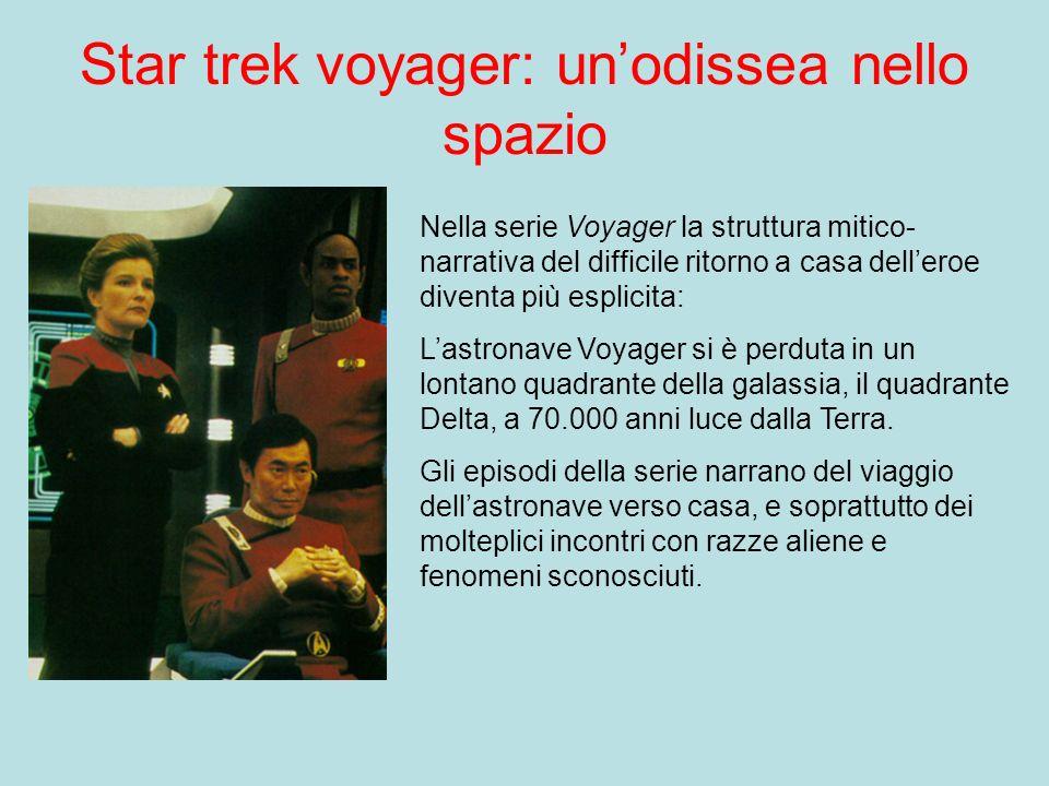 Star trek voyager: unodissea nello spazio Nella serie Voyager la struttura mitico- narrativa del difficile ritorno a casa delleroe diventa più esplici