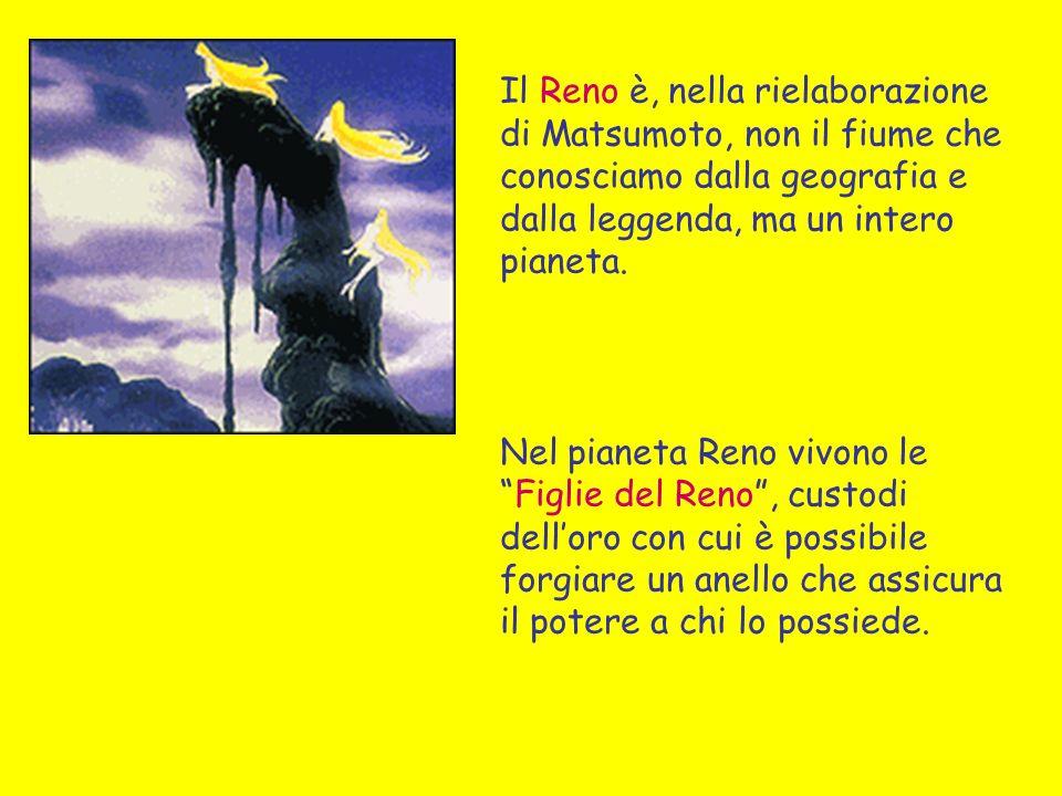 Il Reno è, nella rielaborazione di Matsumoto, non il fiume che conosciamo dalla geografia e dalla leggenda, ma un intero pianeta.