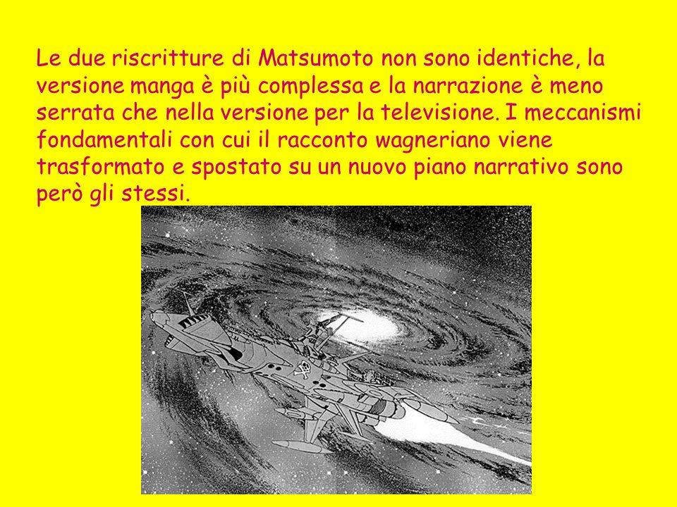 In che modo le modifiche strutturali apportate da Matsumoto alla narrazione della tetralogia wagneriana ne cambiano il senso, testimoniando una ideologia, una visione del mondo, nuova rispetto al testo-modello.
