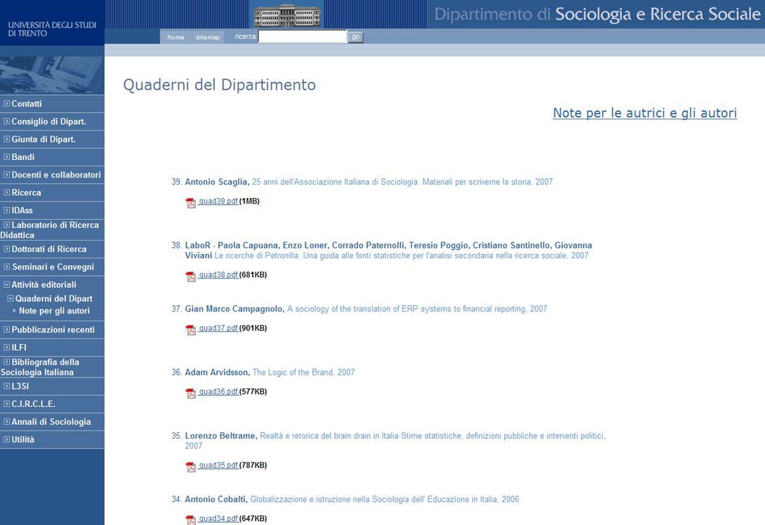 15-16 Novembre 2007 Collezioni digitali di periodici in Italia e in Europa: standard, applicazioni, valutazioni, prospettive 21