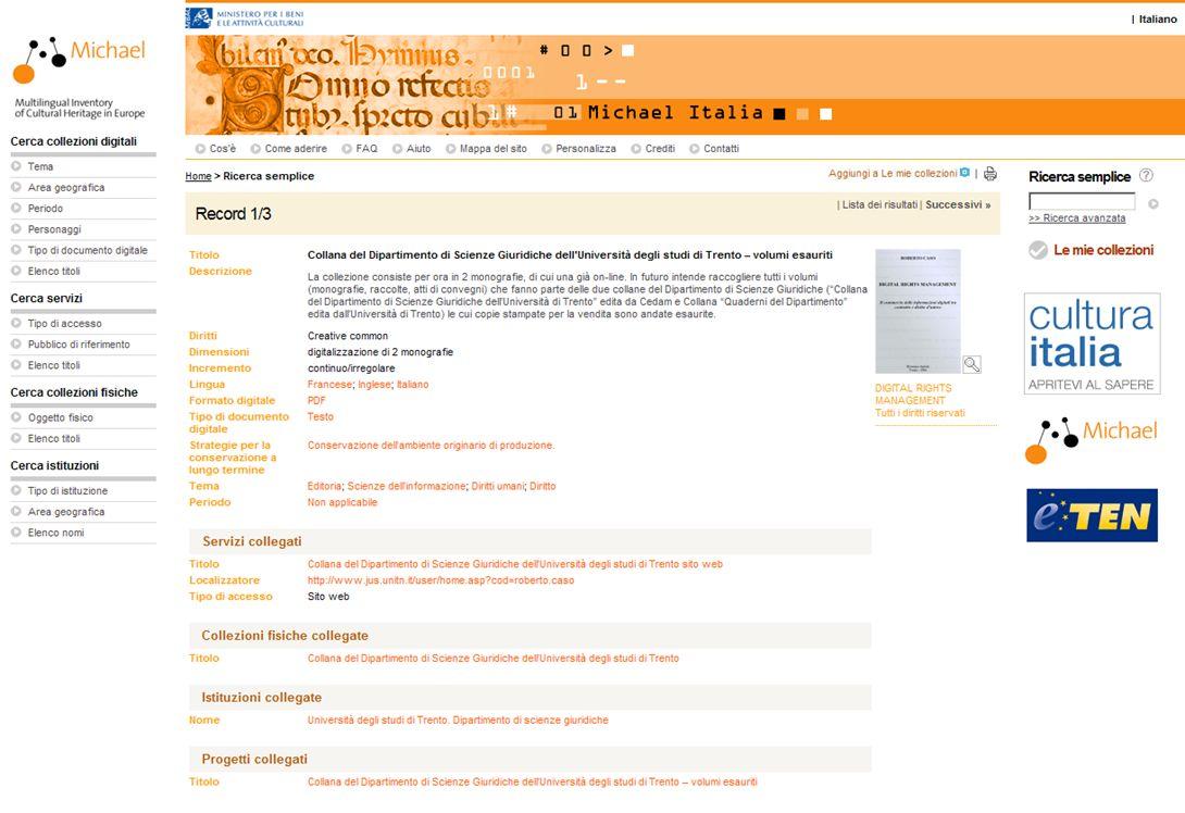 15-16 Novembre 2007 Collezioni digitali di periodici in Italia e in Europa: standard, applicazioni, valutazioni, prospettive 23