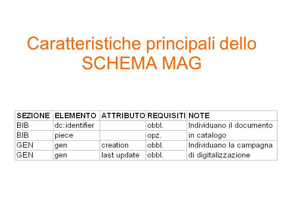 Caratteristiche principali dello SCHEMA MAG