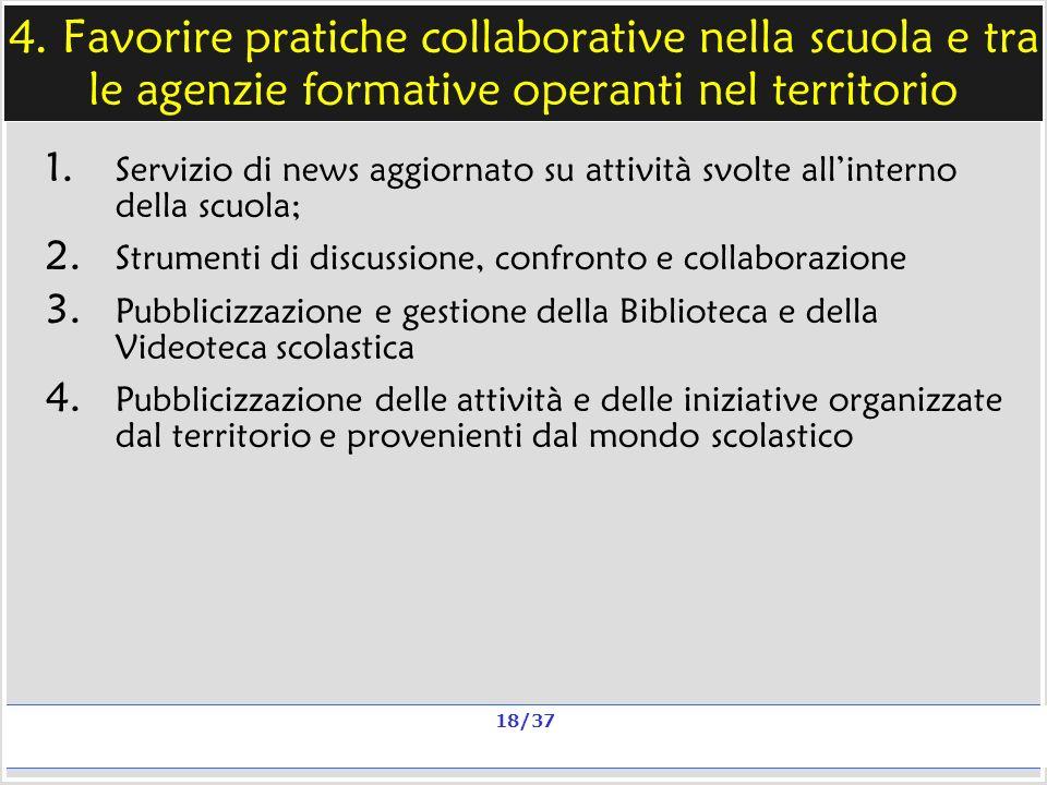 Milano, 20 e 23 nov 2006; 11 e 13 dic 2006 La qualità in un sito scolastico Alberto Ardizzone 18/37 4.