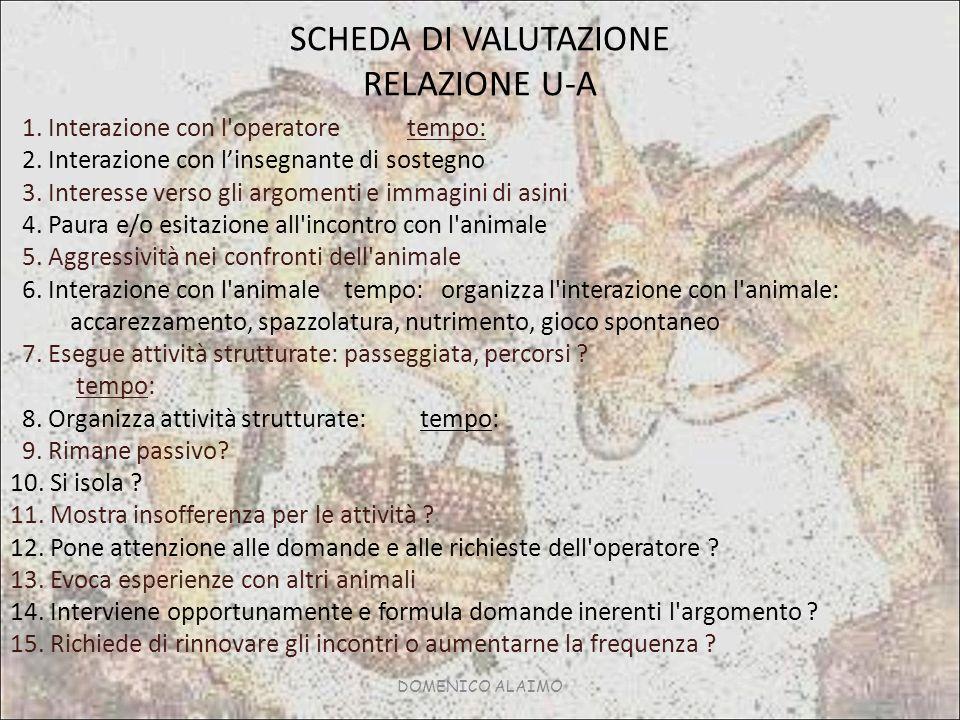 DOMENICO ALAIMO SCHEDA DI VALUTAZIONE RELAZIONE U-A 1.