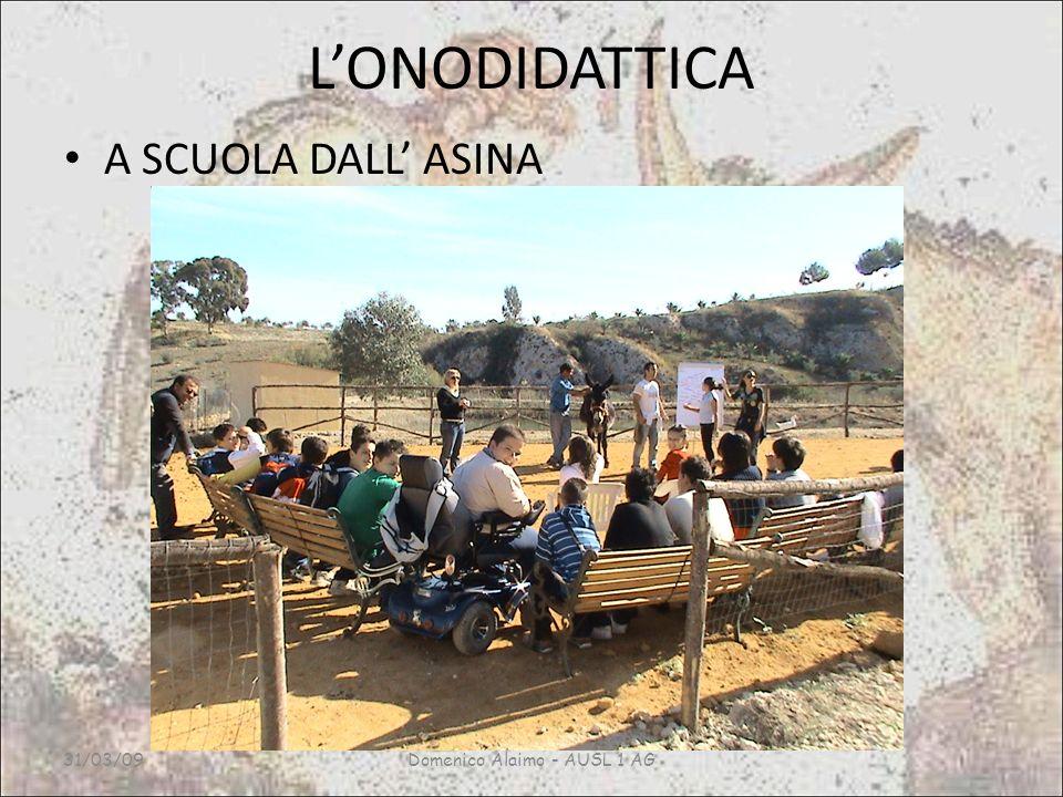 LONODIDATTICA A SCUOLA DALL ASINA 31/03/09Domenico Alaimo - AUSL 1 AG