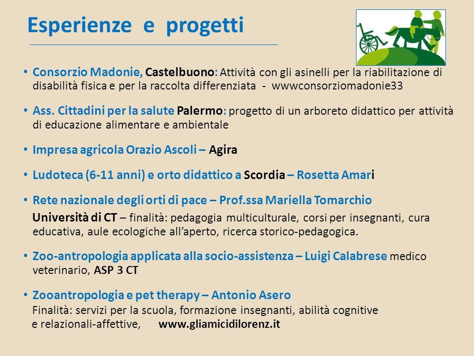 Esperienze e progetti Consorzio Madonie, Castelbuono: Attività con gli asinelli per la riabilitazione di disabilità fisica e per la raccolta differenz