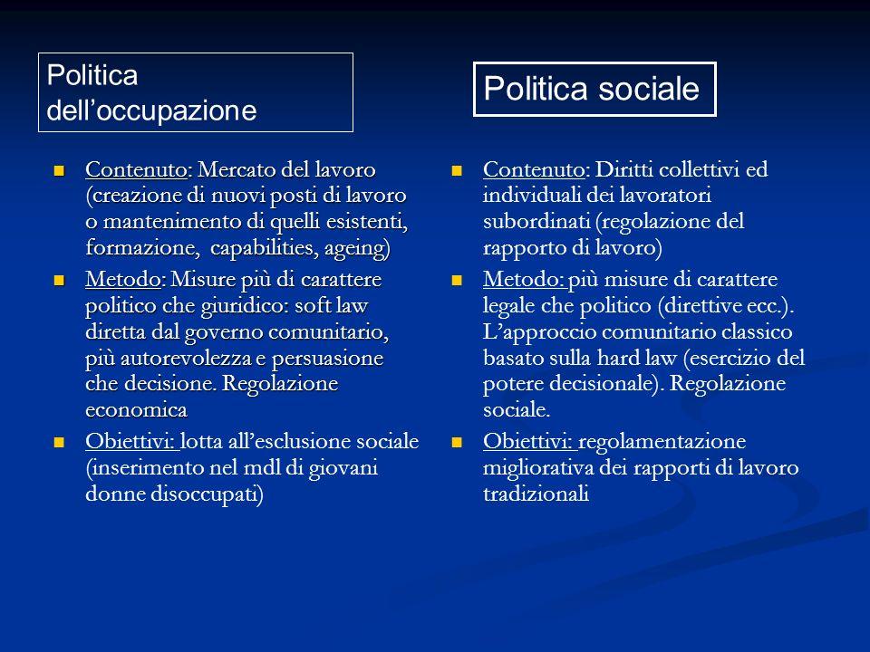 Altro elemento di contesto: il modello sociale USA v.
