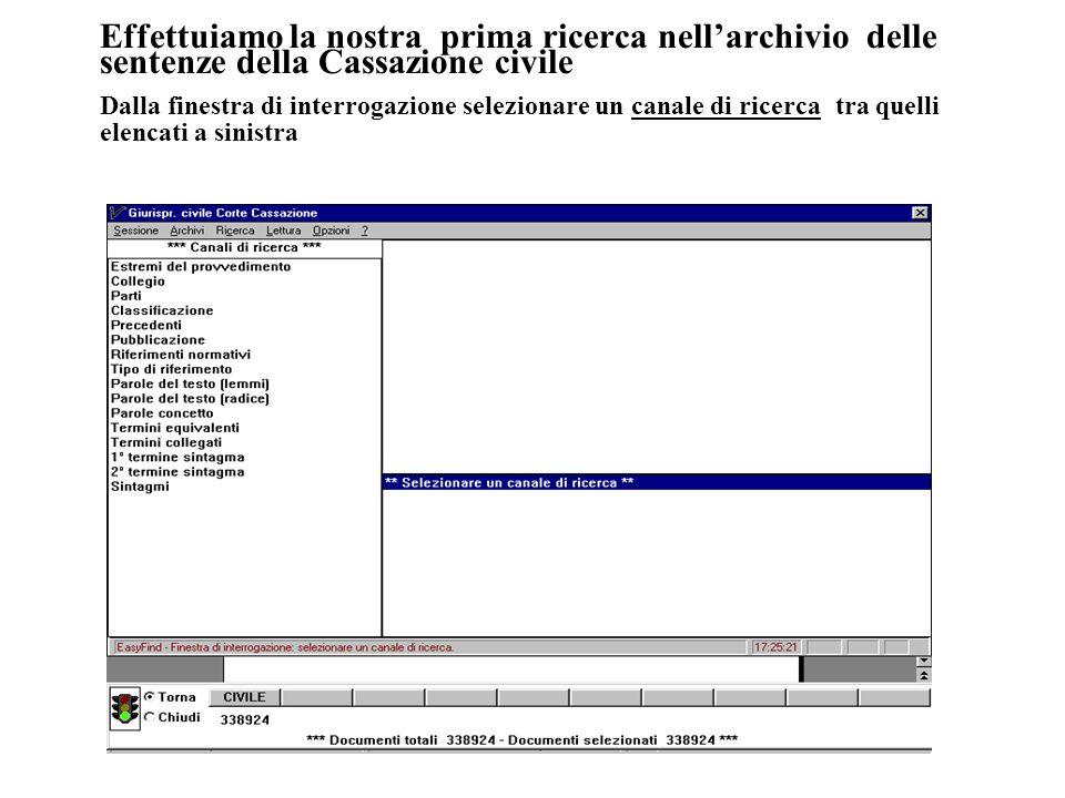 18 Visualizzazione dei documenti Valida per tutti gli archivi La ricerca si compone di due fasi fondamentali: la impostazione della ricerca e la selezione dei documenti.