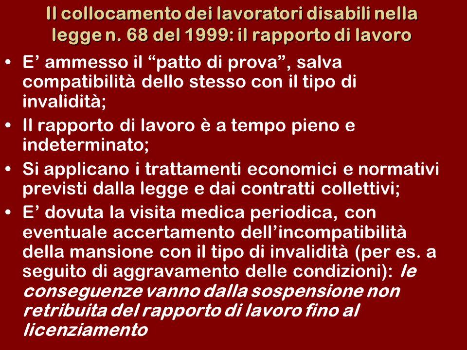 Il collocamento dei lavoratori disabili nella legge n.