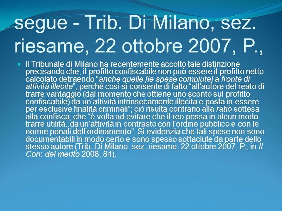 segue - Trib.Di Milano, sez.
