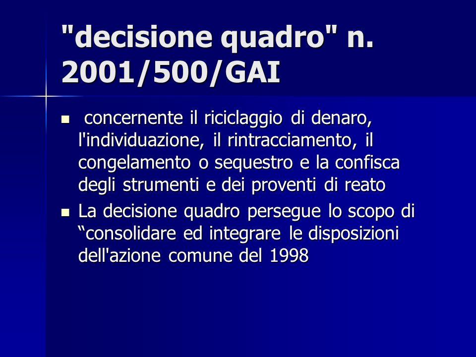 decisione quadro n.