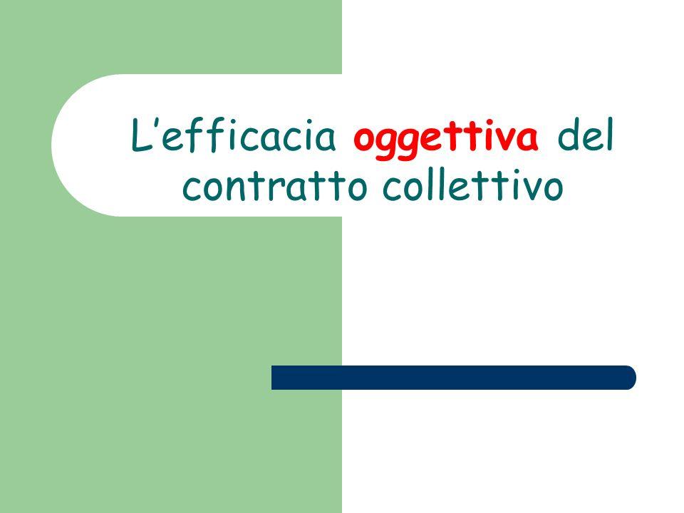 Lefficacia oggettiva del contratto collettivo