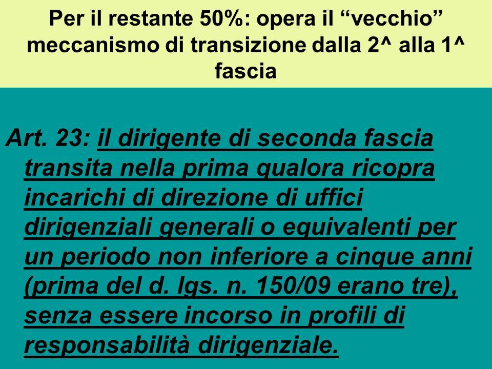 Il reclutamento dei dirigenti di prima fascia: la novità introdotta dalla Riforma Brunetta Lart.