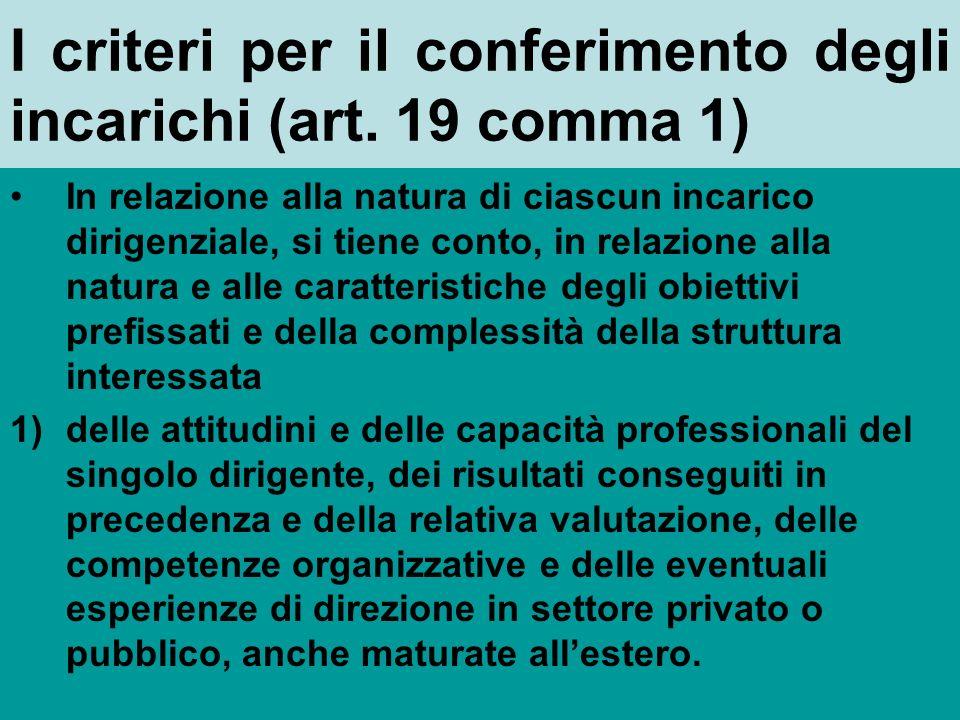 Gli incarichi di funzioni dirigenziali : come vengono conferiti e a chi (art.