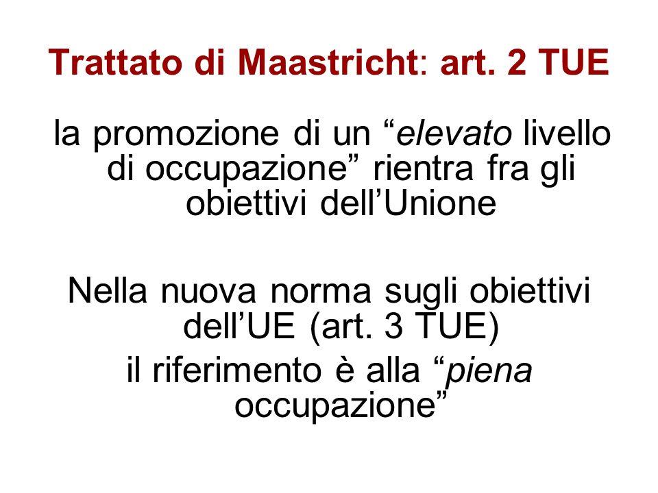 Trattato di Maastricht: art.