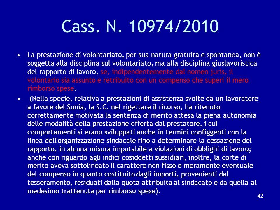 T.A.R. Roma Lazio sez. III n.9946/2010 La subordinazione, intesa come assoggettamento concreto del lavoratore all'esercizio effettivo di poteri impren