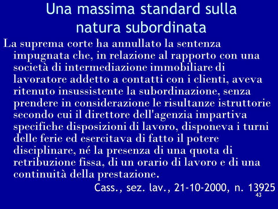 Cass. N. 10974/2010 La prestazione di volontariato, per sua natura gratuita e spontanea, non è soggetta alla disciplina sul volontariato, ma alla disc