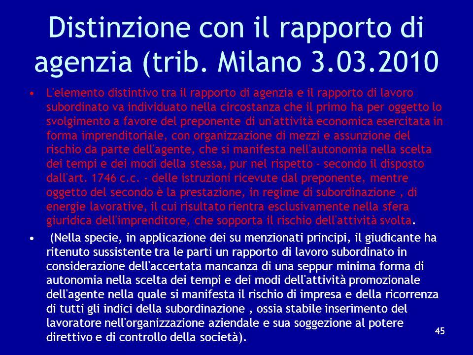 …E sulla natura autonoma Non sono configurabili gli elementi costitutivi del rapporto di lavoro subordinato nel caso in cui le prestazioni siano organ