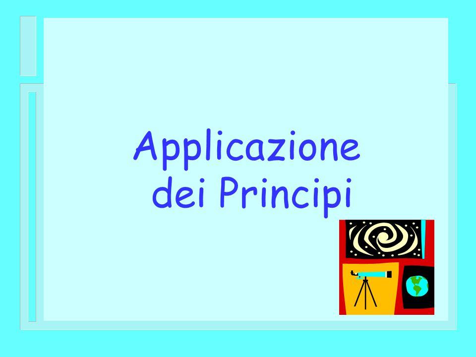 Applicazione dei Principi