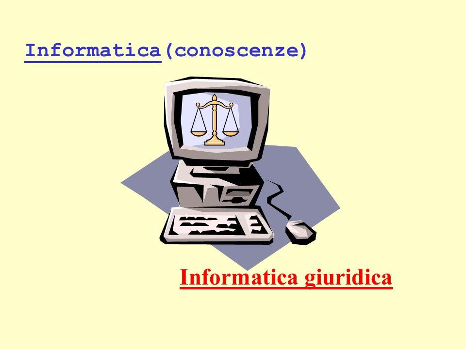 Informatica(conoscenze) Informatica giuridica