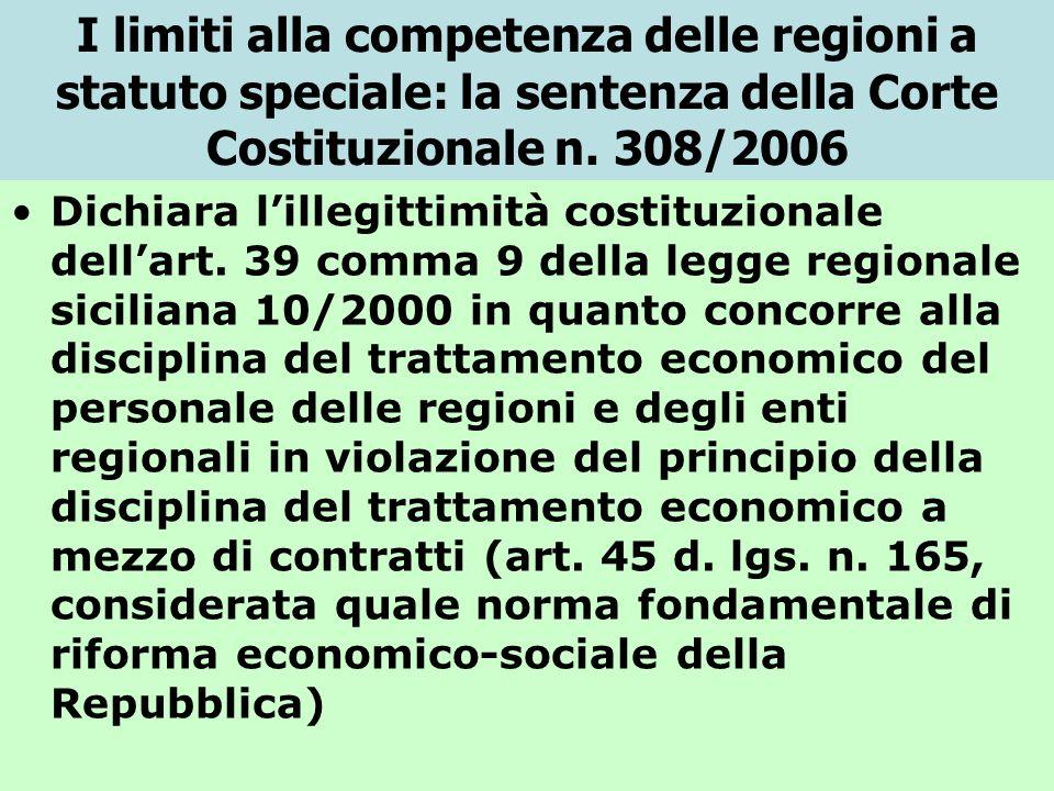 I limiti alla competenza delle regioni a statuto speciale: la sentenza della Corte Costituzionale n.