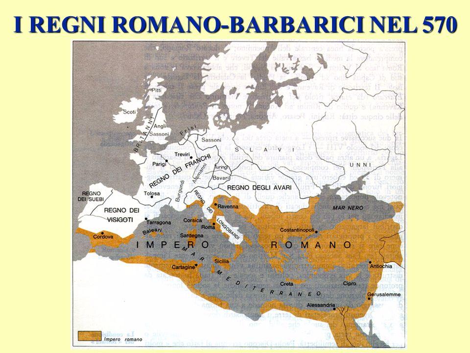 invasioni: seconda ondata LONGOBARDI in Italia (568-774) FRANCHI: in Gallia: dal 481 (Clodoveo) ANGLI E SASSONI: dal 500 in Britannia VANDALI: 435-534, dalla Spagna in Africa