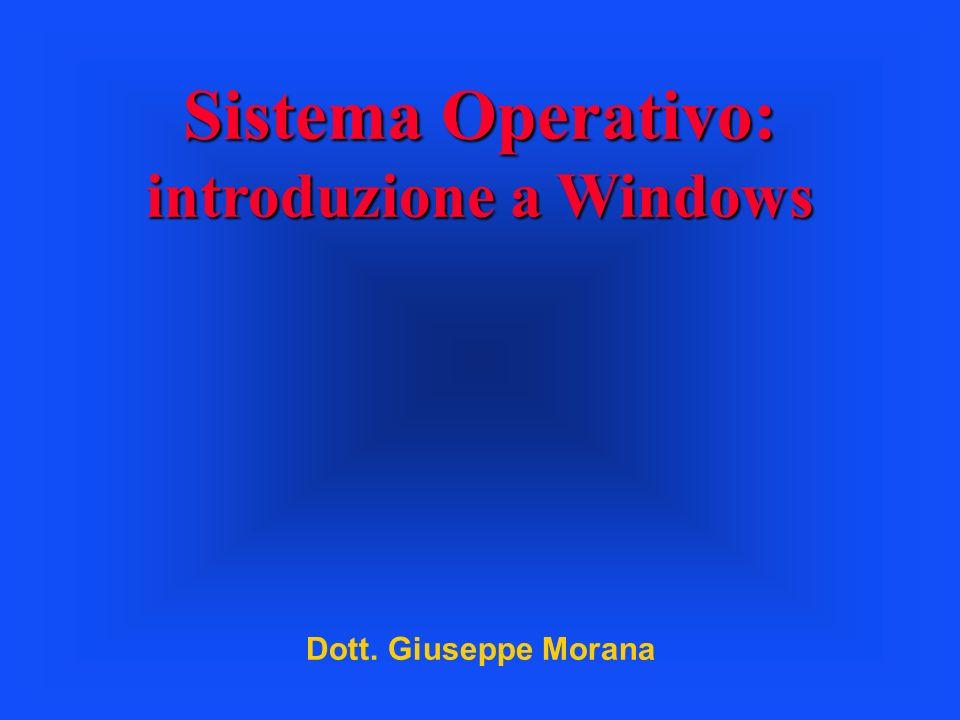 Sistema Operativo: introduzione a Windows Dott. Giuseppe Morana