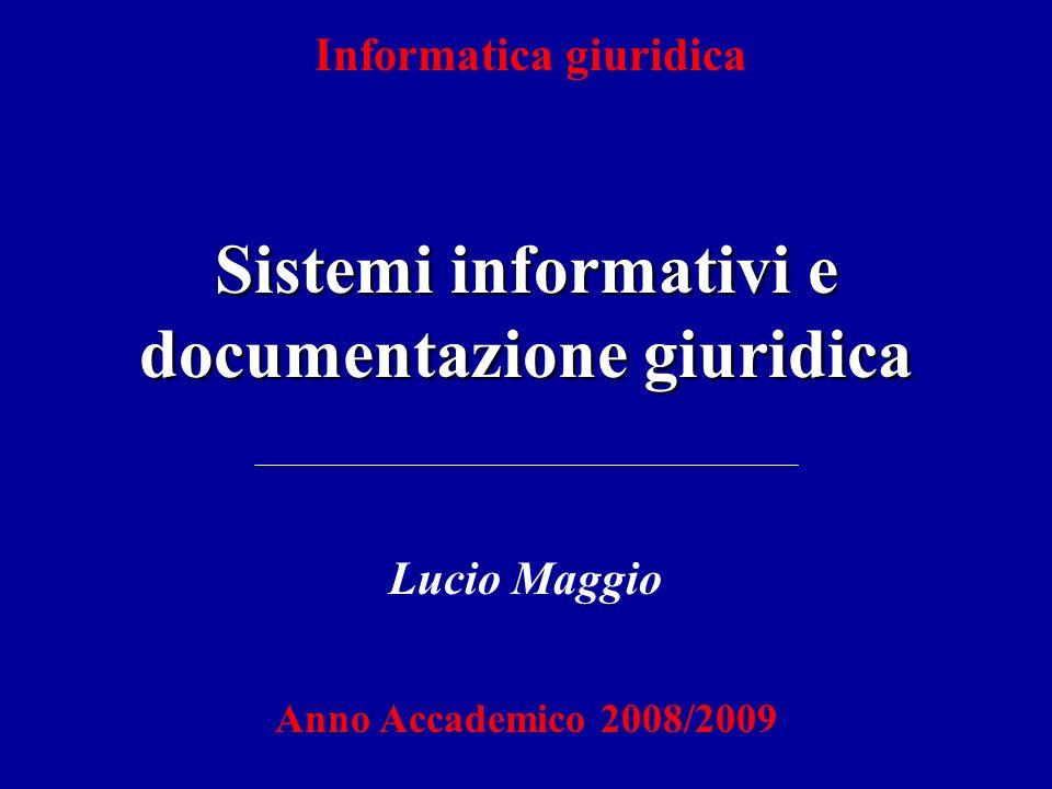 Fonti di cognizione elettroniche del diritto Sistemi in linea (on line) Sistemi fuori linea (off line) - consultazione tramite terminale locale; - collegamento da remoto, per via telematica (Internet).