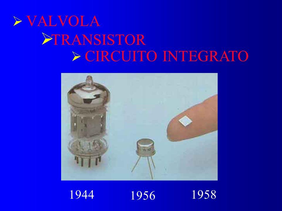 VALVOLA TRANSISTOR 1944 1956 1958 CIRCUITO INTEGRATO