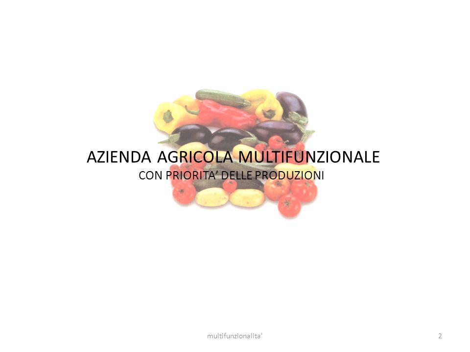 2multifunzionalita' AZIENDA AGRICOLA MULTIFUNZIONALE CON PRIORITA DELLE PRODUZIONI