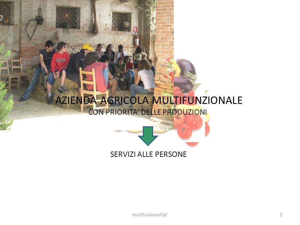 3multifunzionalita' AZIENDA AGRICOLA MULTIFUNZIONALE CON PRIORITA DELLE PRODUZIONI SERVIZI ALLE PERSONE