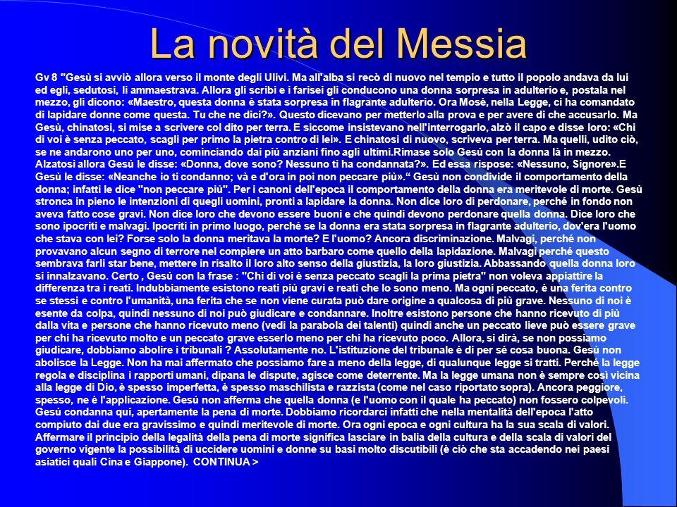 La novità del Messia Gv 8