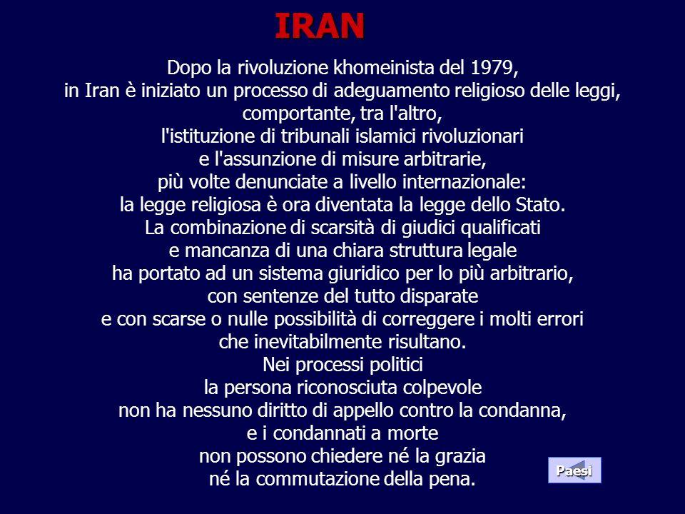 Dopo la rivoluzione khomeinista del 1979, in Iran è iniziato un processo di adeguamento religioso delle leggi, comportante, tra l'altro, l'istituzione